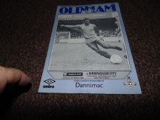 Oldham Athletic v Birmingham City, 1987/88